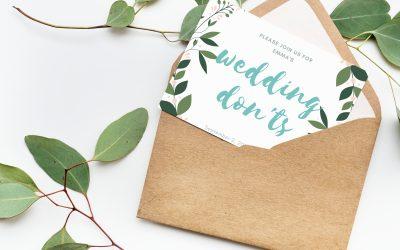 Wedding Planning DONT'S